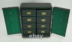 Vintage Poker Card Game Bakelite Chip Set in Cabinet