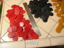 Vintage Poker Chip Set Bakelite