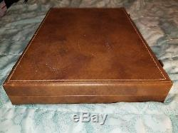 Vintage Poker Chip Set with Leather Case. Over 80 years old! Rare and Good Con