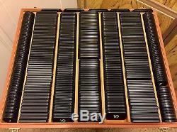 Vintage Set 710 European Poker Chips Plaques Markers CountersVGC