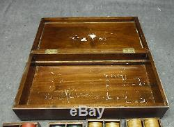 Vintage Set of 400 Bakelite Catalin 1.5 diameter Poker Chips Set Wood Tray Box
