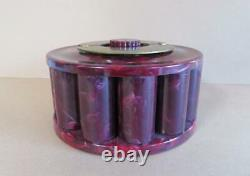 Vintage Turnit Swirled Marble Bakelite Poker Chip Caddy, Rack with Chips