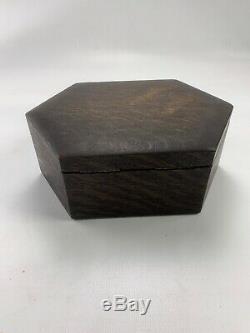 Vintage Wooden Case Poker Chip Set