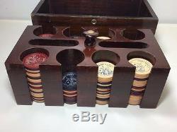 Vintage bakelite poker chip set