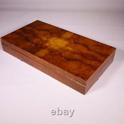 Vintage poker chip set original galalite casein chips CASA ZANZI with wooden box
