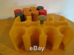 Vtg. Art Deco Bakelite/Catalin Poker Chip Set, Amber Holder, 200 Chips 1 1/2,40's