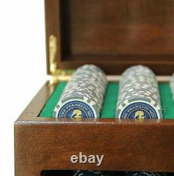 WE Games Franklin Mint Poker Chip Collectors Set, Made in USA Solid Wood Case