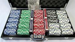 WSOP Professional 500 11.5 gram Poker Chip Set Wood Case Black New