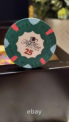 WTHC Paulson Top Hat And Cane Poker Chip set in case
