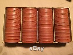 Wheel & Faro Antique Poker Chips 500 Pieces with original boxes