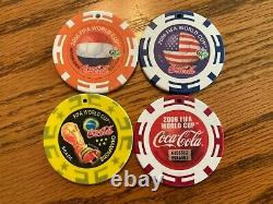 World Cup 2006 Germany Coca Cola Poker Chip Complete Set of 39 with Premiums