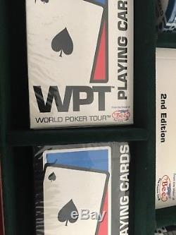 World Poker Tour Chip Set Heavy Duty Mahogany Case New