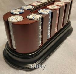 World Poker Tour Chip Set Rotating Red base with Handle Brand New Never Used