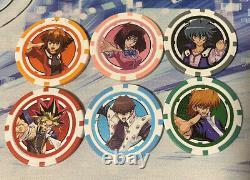 Yugioh Official Poker Chip Complete Set all 6 Konami Duel Links Promo Yugi Kaiba